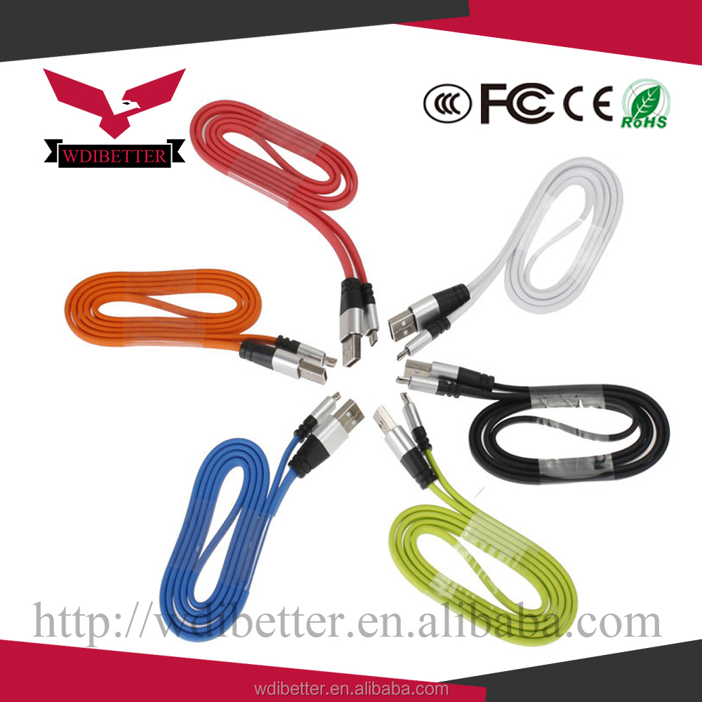 New mixed colors Micro USB Cable For Samsung Galaxy S2 S3 S4