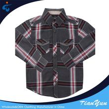 Customized woven plaid casual latest shirt designs for boys