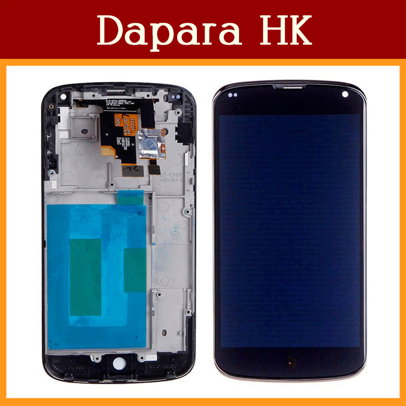 High Quality For LG Google Nexus 4 LCD Display Assembly with Touch Screen Digitizer E960 LCD