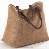 HB030 Women's Plain Classic Design Cheap Price Tote Jute Handbag Hobo Bag For Wholesale 500pcs MOQ