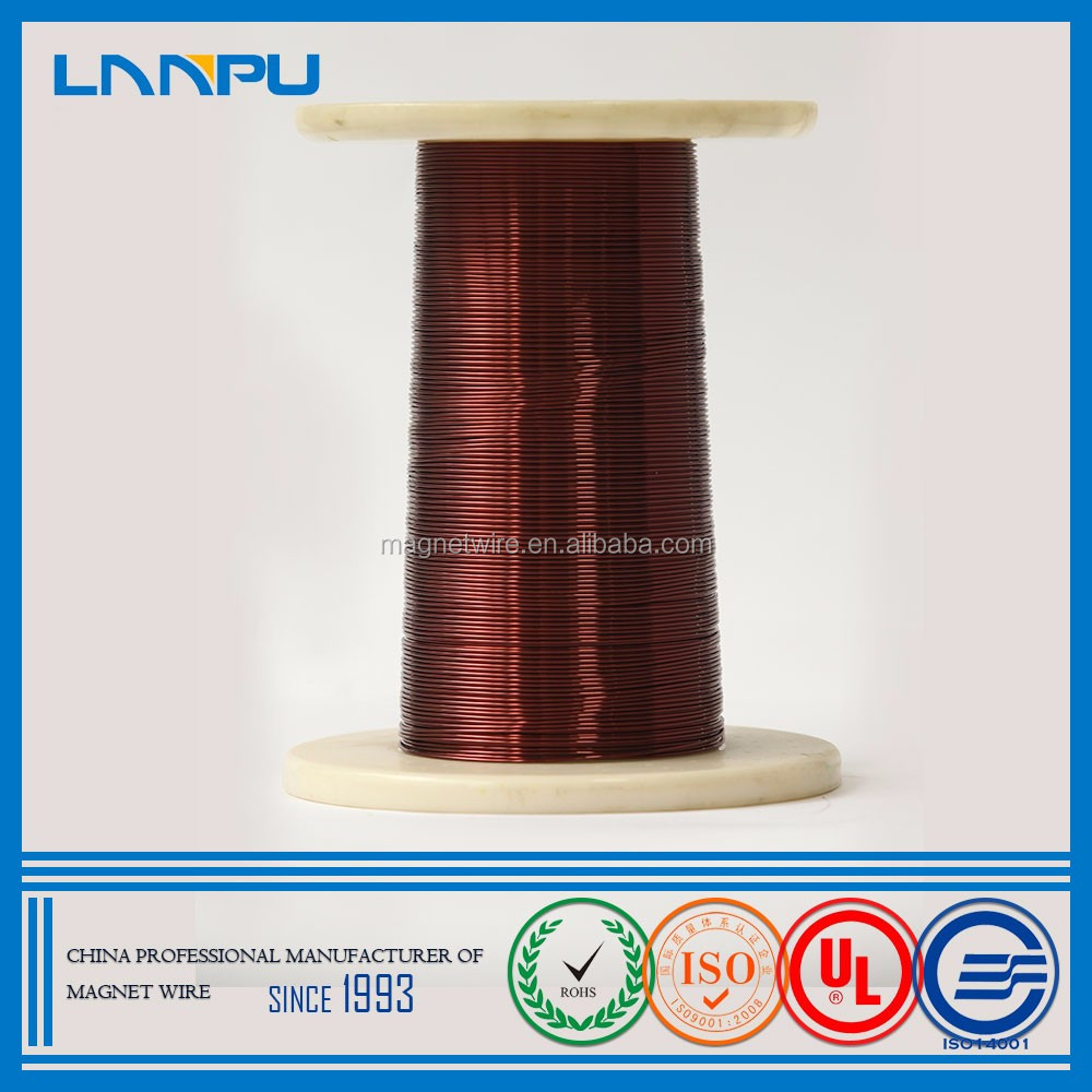 ISO certification Polyester SWG Round Colored Solderable Enamelled Copper Wire 0.6mm