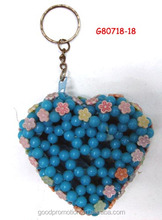 beaded keychain and cell ornament for adult fashion accessory and branded market