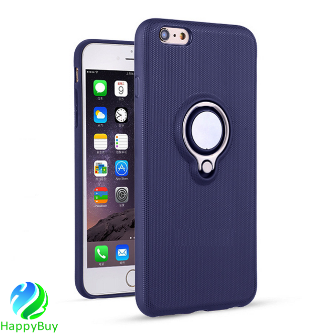 New design TPU material mobile phone case cover for iphone5/5s/5se/6/6s/6plus/7/7plus with magnetic and invisible ring