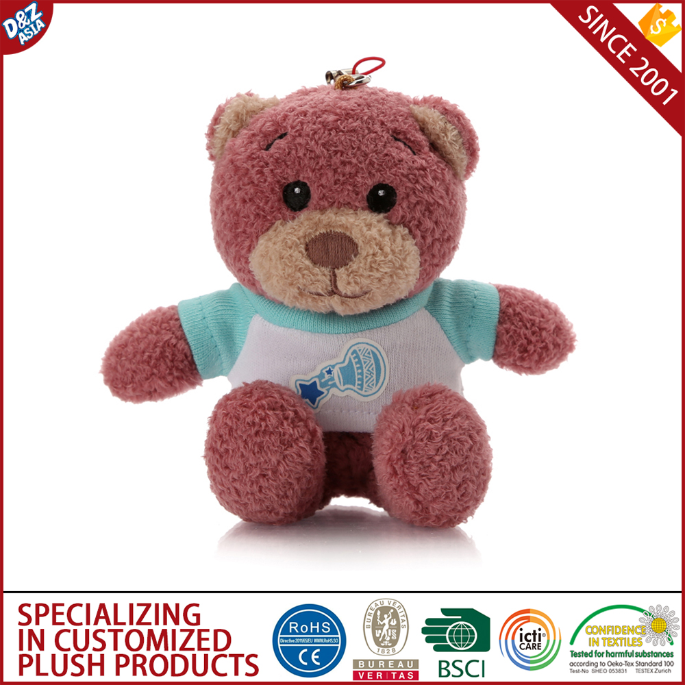 wholesale souvenir cups plush teddy bear keychain car logo custome