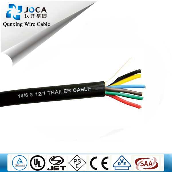 waterproof trailer cable coil electric cable with m8 m12 connector