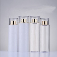 Luxury 200ml 250ml low quantity acrylic plastic bottle essential oil moisturizer packing bottle makeup remover container