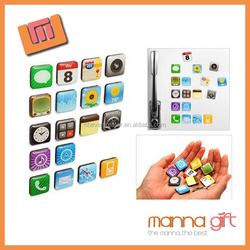 Best price all kinds mobile phone APP epoxy fridge magnet for fridge