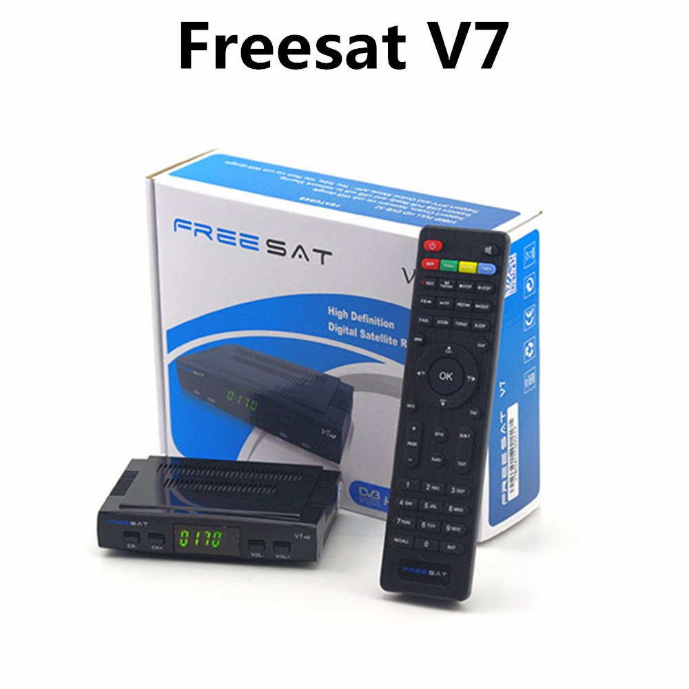 Freesat V7 Genuine Satellite Receiver hd Full 1080P HD+1PC WiFi adaptor DVB-S2 Support Ccam powervu youpron Satellite Receiver