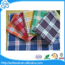2016 Hot sale custom yarn dyed 100% cotton kitchen tea towel colorful checker waffle kitchen towel