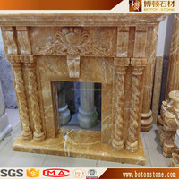 2016 luxury yellow colophony onyx marble fireplace surrounding