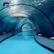 Custom Large cylindrical acrylic aquariums tunnel