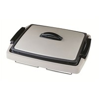 1300W Non-Stick Electric Cast Iron Steak Plates Skillet Sizzle Hot Plate and Grill