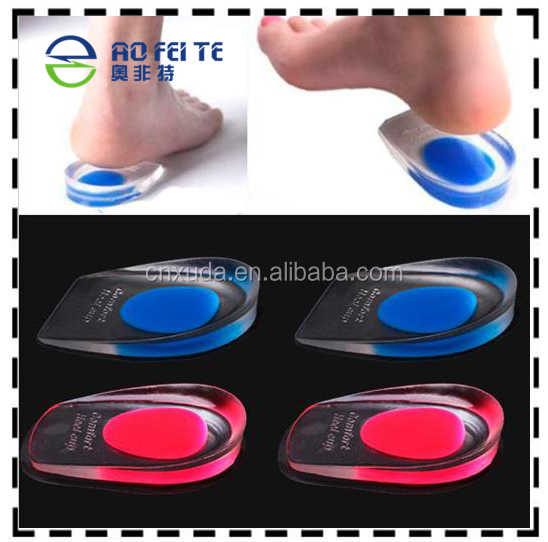 Mens/WOMENS Silicone Gel Heel Support Pad Cup Spur Gel Silicone Shock Cushion