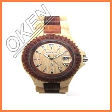 2016 new style fashion BEWELL brand red sandal Color wood watches hot sale