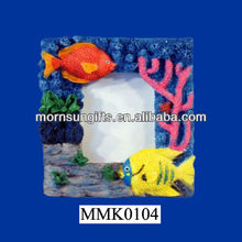 Handpainted Tropical Fish Photo Frame, Holds 2 X 3 Photo Picture