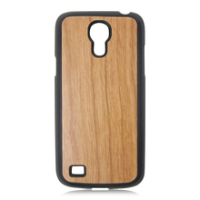 PC bottom nature cherry wooden phone shell hot selling cherry wood case for Samsung S4 mini