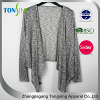 women's new design irregular top for long sleeve