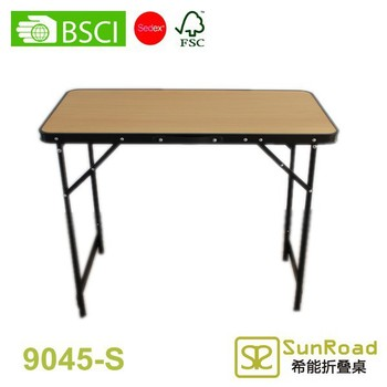 0.9x0.45m Height Adjustable Folding Table