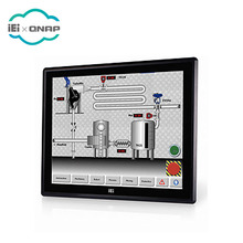 IEI DM-F15A/R 15 inch industrial resistive touch screen LCD <strong>monitor</strong> with 9 ~36V DC input