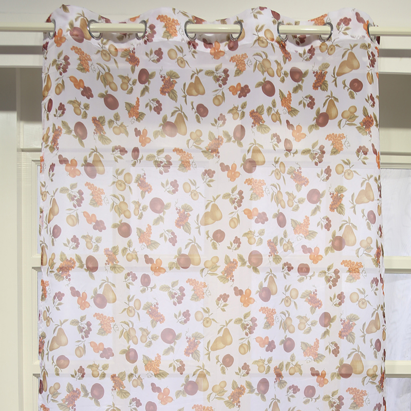 Chinese curtains fruit printed design curtain fabric home textile