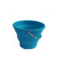 2019 Household Multifunctional Portable Travel Outdoor Washing Collapsible Large Folding silicone Water Bucket