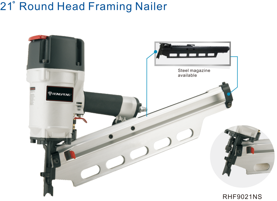 RHF9021N/RHF9021NS Operation RongPeng Atro Air Pneumatic Framing Nail Gun