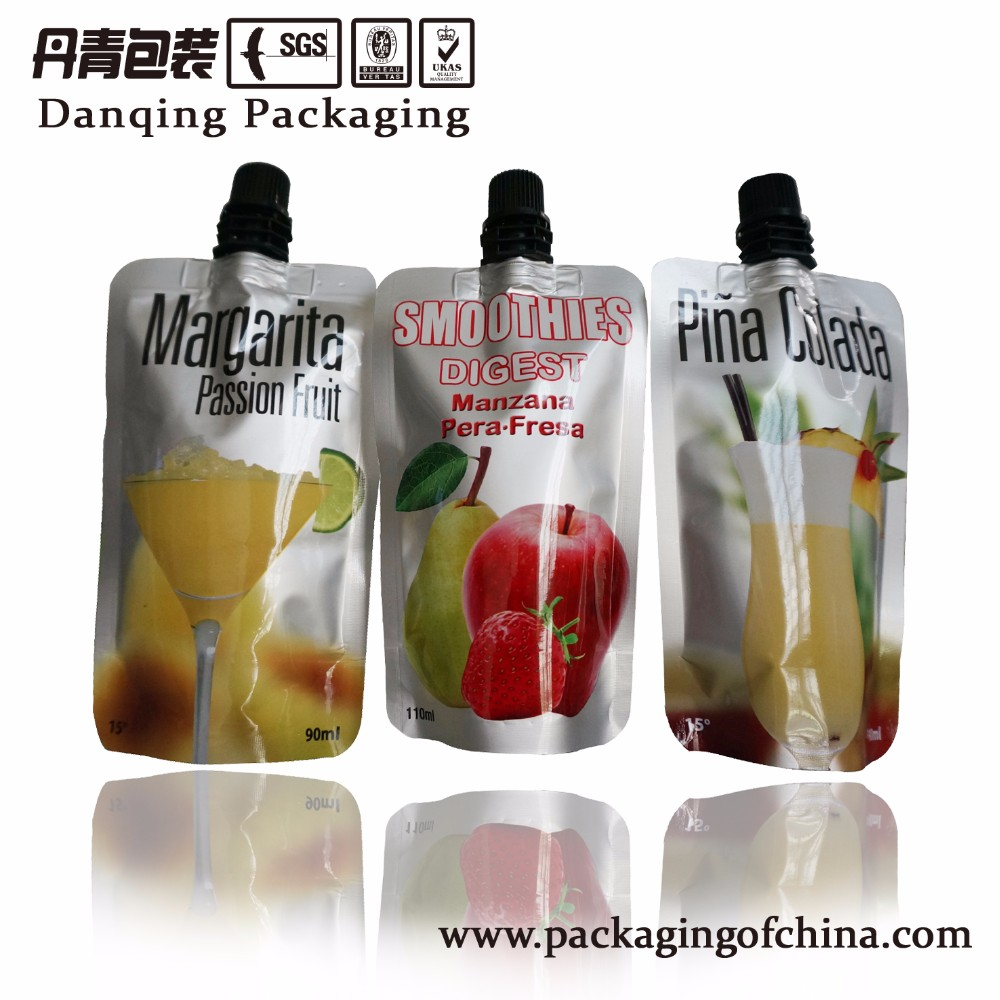 China suppliers customized Printing Nylon Doypack for Cocktail