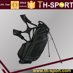Green piping polyester golf stand bag