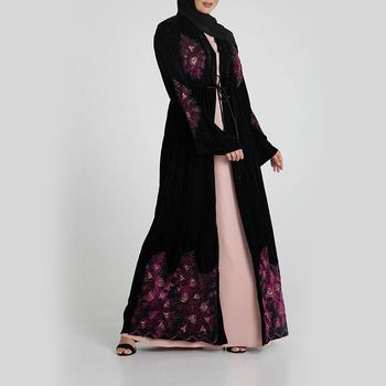 New Model Pakistan Abaya In Dubai Wholesale Open Muslim Kaftan Dress abaya designs dubai For Woman