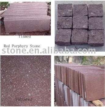 China G666 red porphyry stone