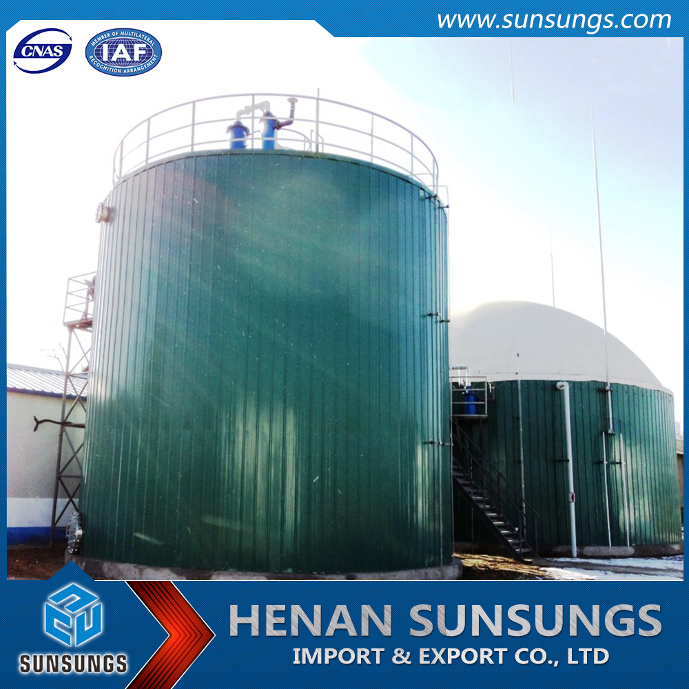 Biogas plant Anaerobic reactor biogas digester wastewater treatment