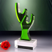 customized Souvenir gift tree shaped crystal award trophy