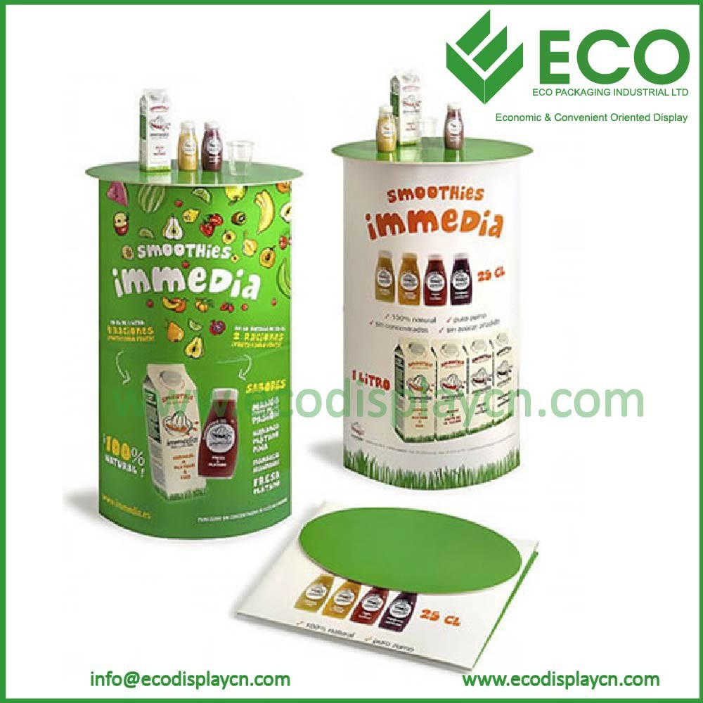 Point of sale promotion table displays for store, cardboard display