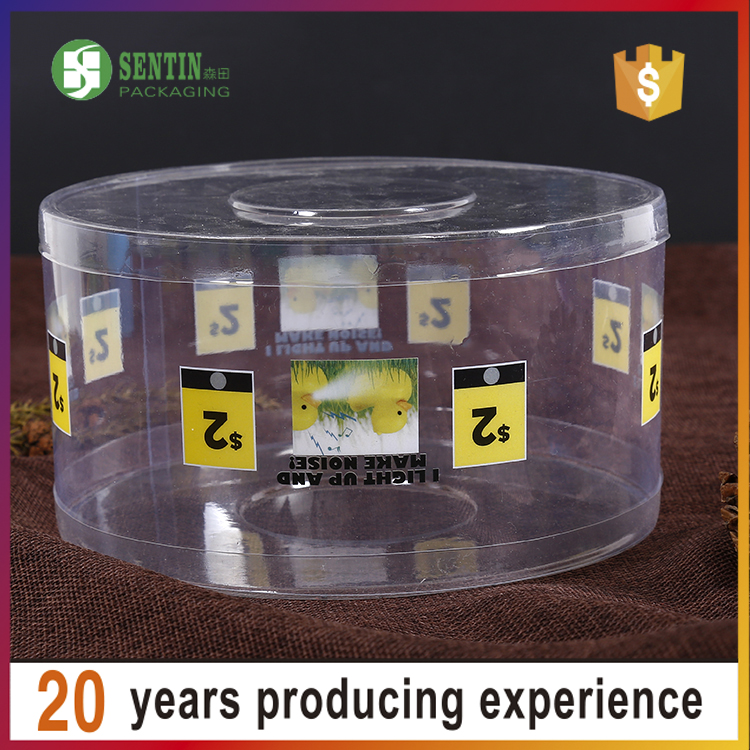 2016 new Style clear pvc box round jewelry box plastic clear cylinder gift packaging