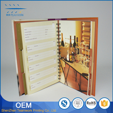 Hard cover pringting customize and promotional notebook