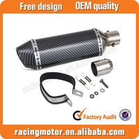 38-51mm Carbon Fiber Color Motorcycle Exhaust Muffler with Removable DB Killer