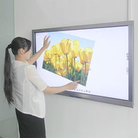 65 inch 3d smart tv lcd interactive touch board wall panel