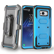 Cell Phone Heavy Duty Rugged Holster Belt Clip Case for Samsung Galaxy S8/S8 edge Cover