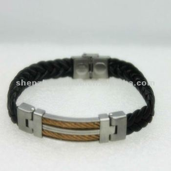 Decorative rivets leather bracelets with stainless steel for Rivets for leather jewelry