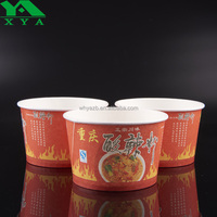 logo printing disposable food to go salad chicken paper cups