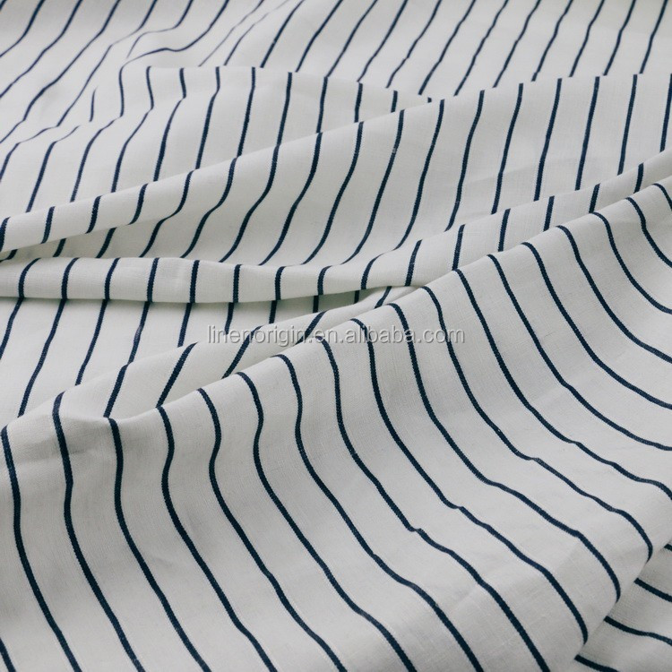 linen fabric wholesale,yard dyed linen stripe fabric for garment,100% linen fabric
