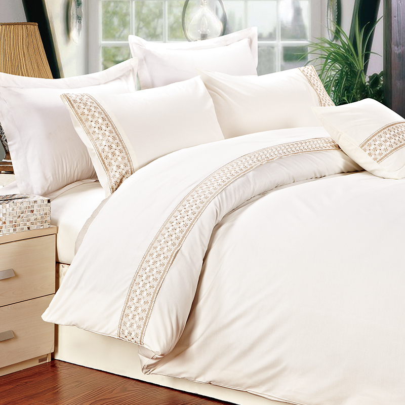 Kosmos Home Textile Embroidered Bed Sheets Set Embroidery