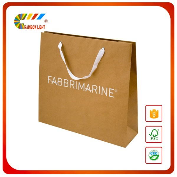 Direct factory hot sale super quality twisted handle carry paper bag printer