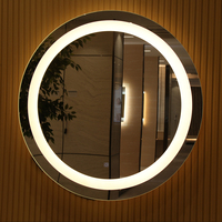 Hilton Marriott Sheraton IHG Hotel Round and Oval Vanity Mirror with Lights for Bedroom
