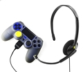 Drop-shipping 3.5mm Plug Monaural Chat Headset With Tangle-free Flat Cable For PS4 Controller