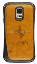 high quality upholstered leather mobile phone cover for Samsung