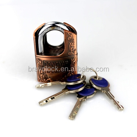 half shoulder protected zinc alloy padlock