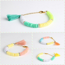 2015 colorful friendship tassel bracelet jewelry making supplies