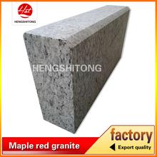G4418 spray white granite curbstone, white granite kerbstone, sea wave granite machine cut