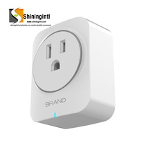 smart safety protection Intelligent Wireless Power Supply Plug 10A US Standard Wifi Plug socket with amazon alexa google home